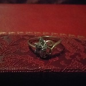 Two tone 10k gold ring